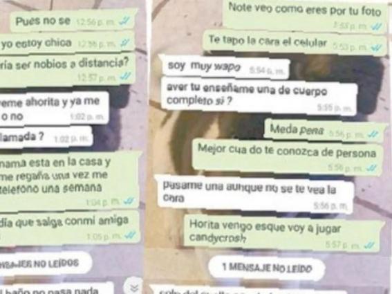 pedofilo contacta a pequena en whatsapp y su madre impide el acoso 1