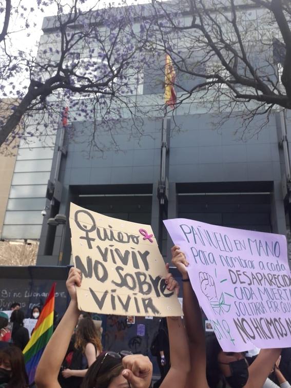 marcha manifestacion 8m dia de la mujer 24