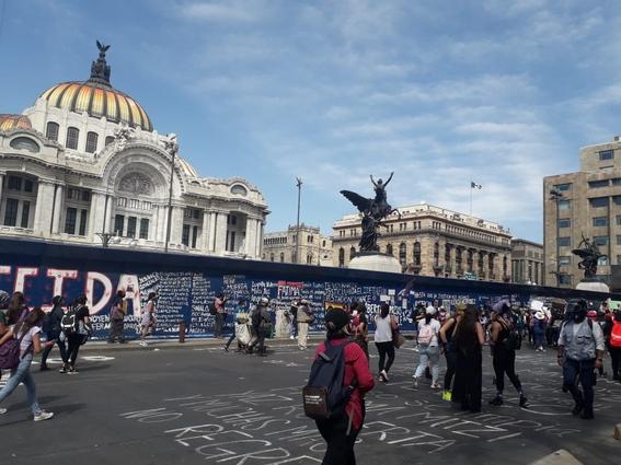 marcha manifestacion 8m dia de la mujer 16