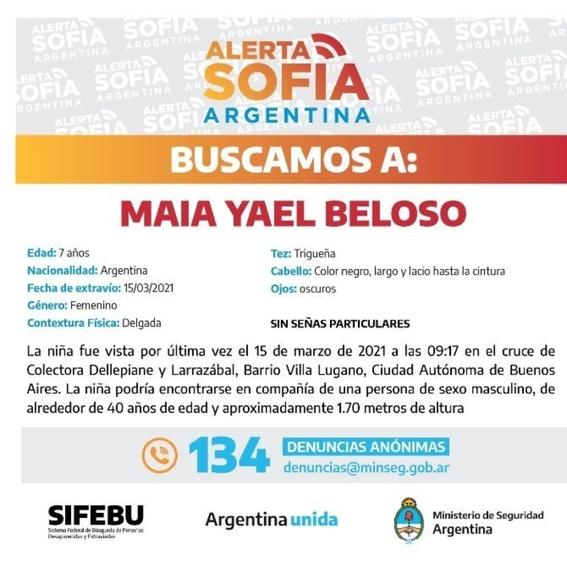 encuentran con vida a maia la nina de siete anos que estaba desaparecida en argentina 1