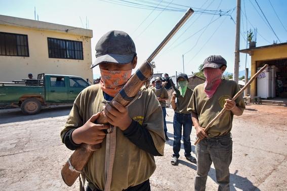 fotos y video ninos de entre 6 y 11 anos se unen a la policia comunitaria en guerrero 1