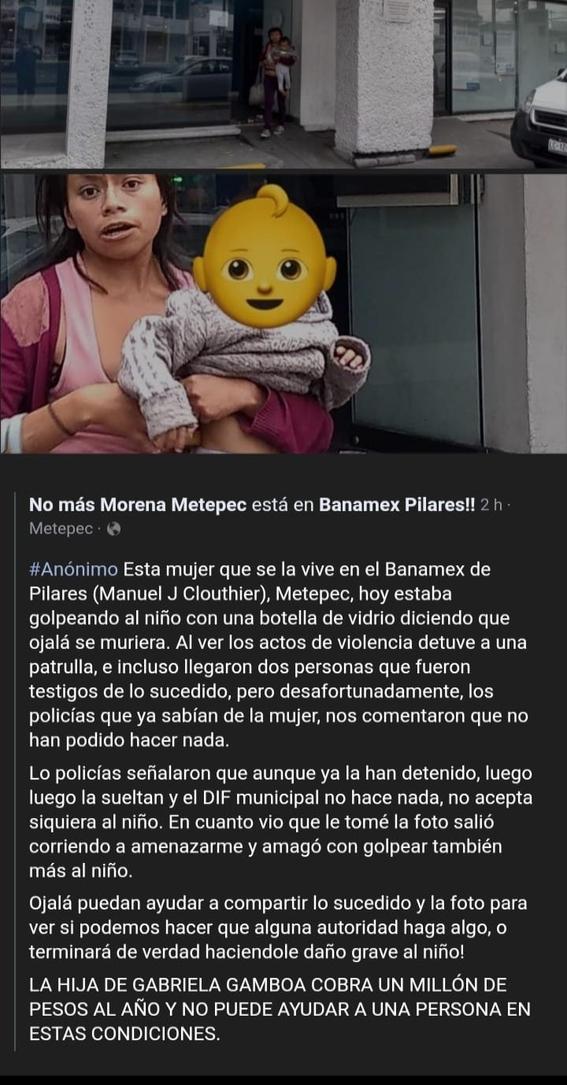 rescatan a bebe que era maltratado por madre en metepec 1