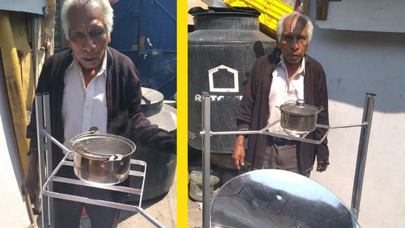 abuelito de 71 anos inventa estufa solar con material reciclado 1
