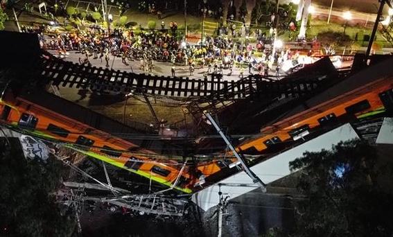 fotos de los momentos del desplome del metro olivos en la cdmx 2