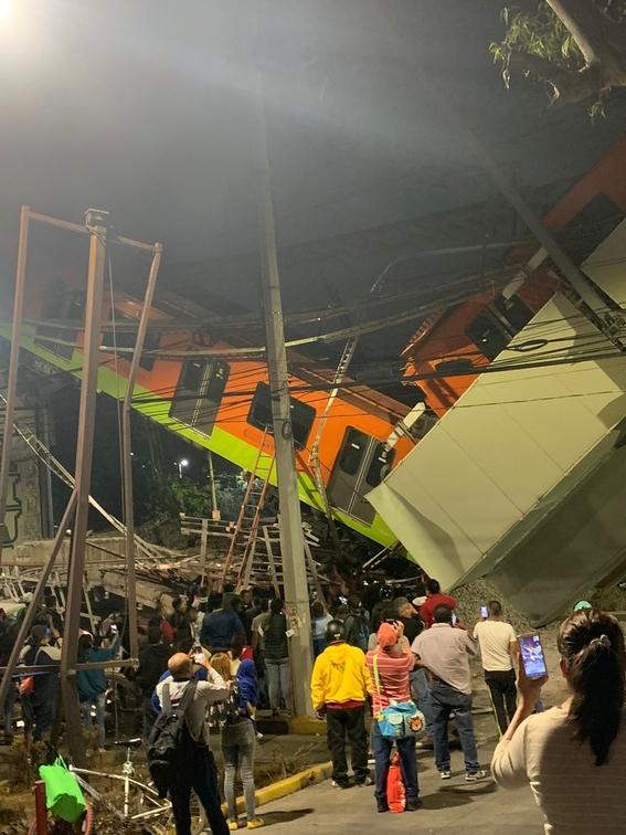 nuevo video colapso metro l12 1