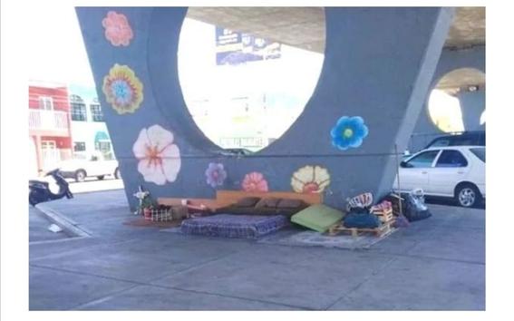 viral recamara ordenada y limpia de indigente que vive abajo de un puente 1
