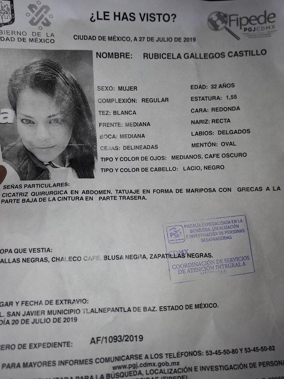 rubicela gallegos feminicidio 1