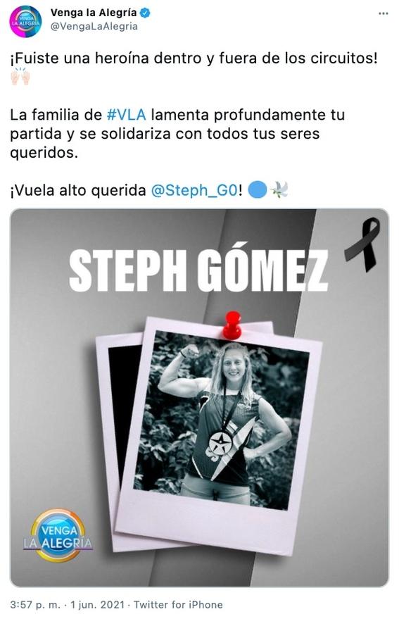 muere steph gomez exatlon 1