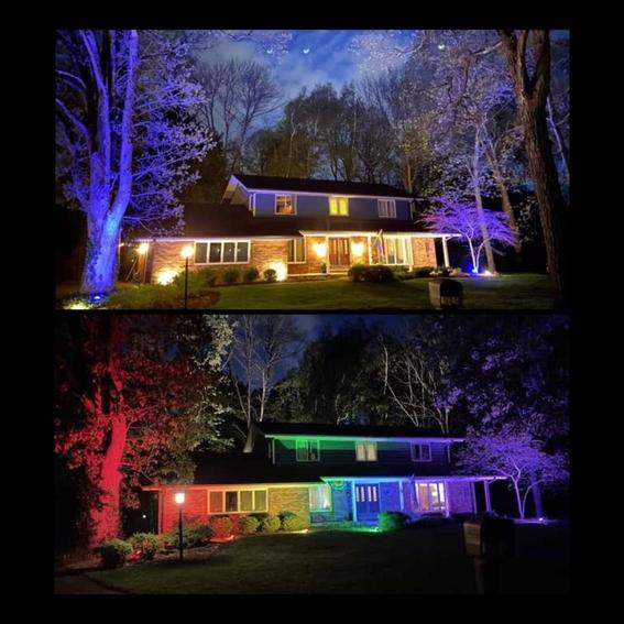 prohiben a pareja gay colocar bandera lgbt iluminan casa de arcoiris 2
