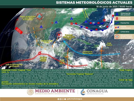 tormenta tropical dolores 2