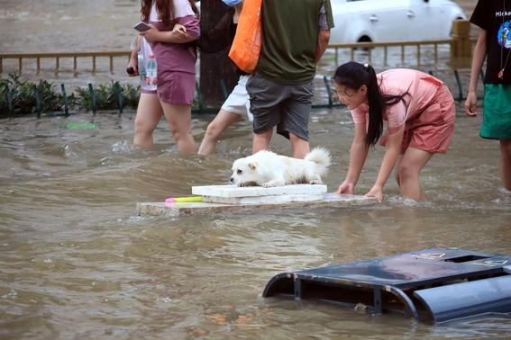china zhengzhou lluvias inundaciones imagenes metro 1