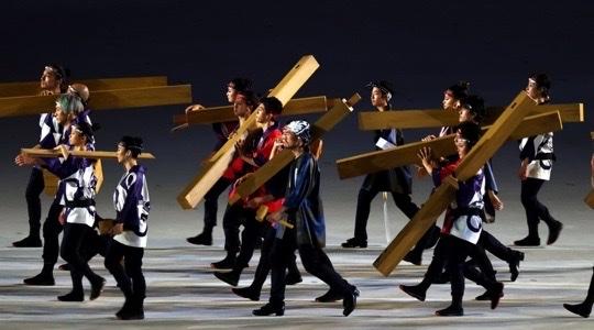 aros madera japon juegos olimpicos inauguracion 2