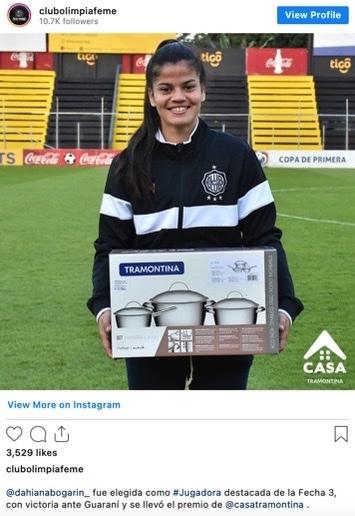 futbolista premio mejor jugadora olimpia paraguay ollas 1