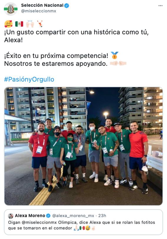 mexicanos apoyan a alexa moreno en juegos olimpicos 2