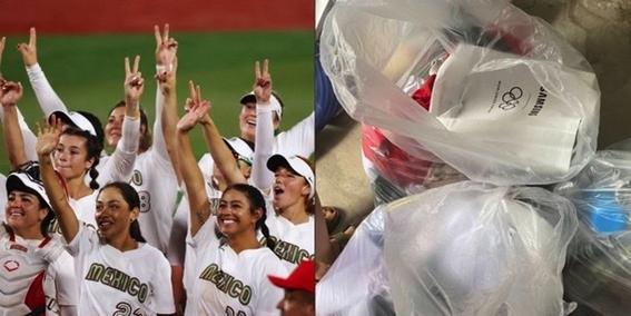 olimpicos tokio 2020 olimpicos tokio 2020 softbol uniformes basura ana guevara 1