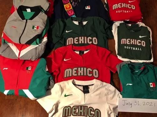 olimpicos tokio 2020 olimpicos tokio 2020 equipo femenil softbol uniformes en la basura softbol uniformes softbol basura 1