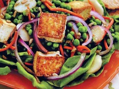 Cenas fáciles y rápidas - Ensalada de tofu