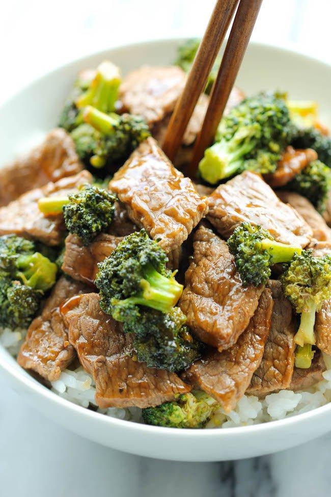 Cenas fáciles y rápidas - Res y brócoli