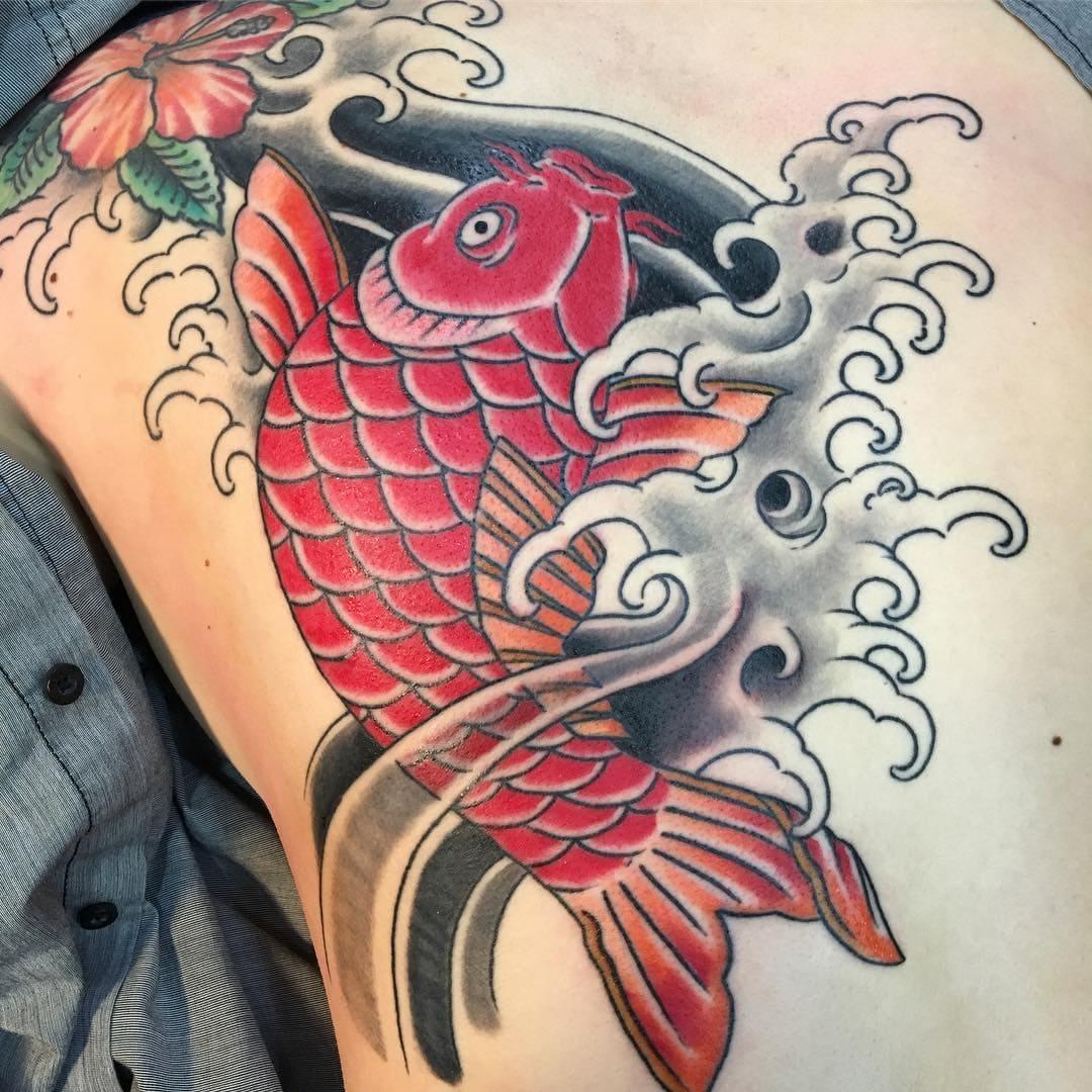 koi fish tattoo ideas designs for strength