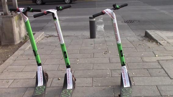 scooters asegurados