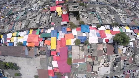 vista del tianguis de santa cruz meyehualco