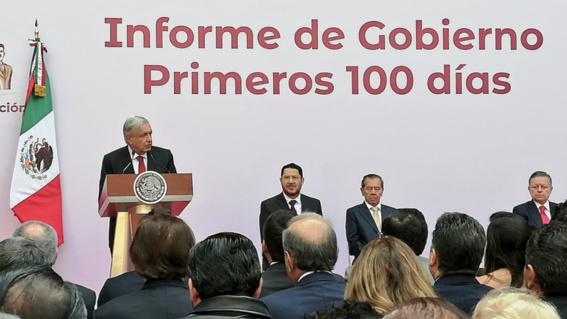 amlo informe por primeros 100 dias de gobierno