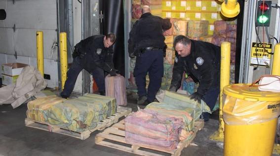 Decomisan mil 450 kilos de cocaína en el puerto de Nueva York