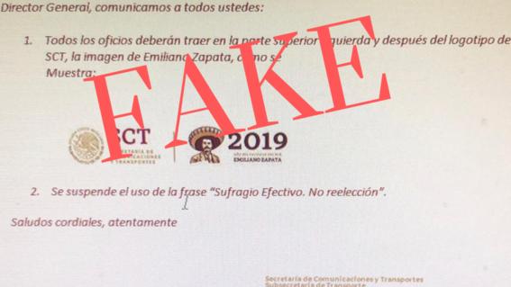 la eliminacion del sufragio efectivo no reeleccion es fake