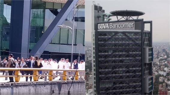 empleados son desalojados de torre bancomer