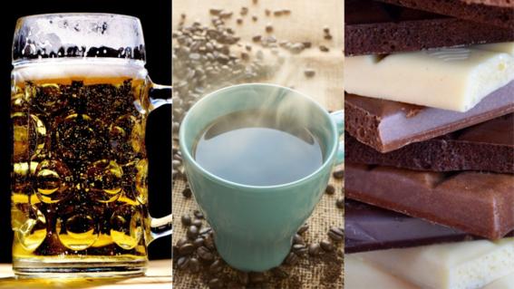 la huella hidrica de la cerveza cafe y chocolate