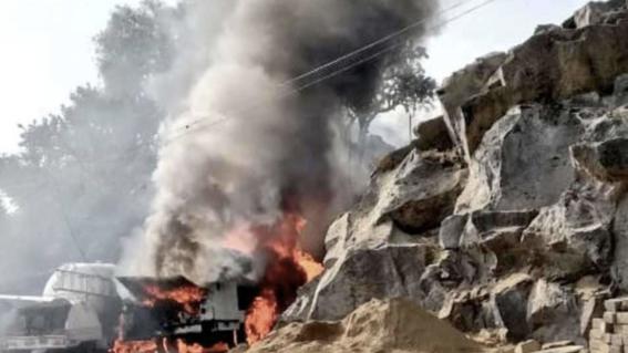 reportan varios heridos tras explosion de pipa en milpa alta