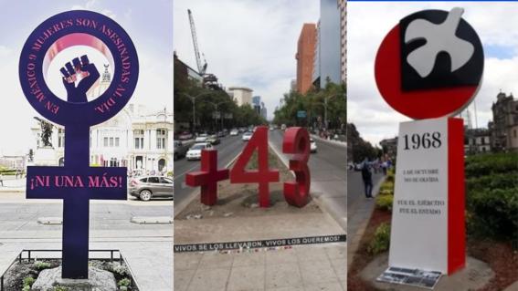 la antimonumenta antimonumento a los 43 y antimonumento del 2 de octubre