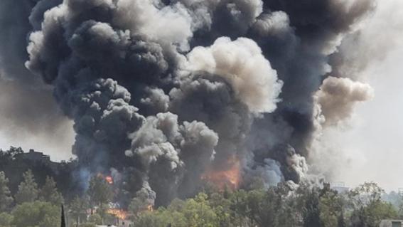 reportan fuerte explosion de polvorin chimalhuacan edomex