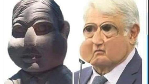 memes del busto de amlo en slp