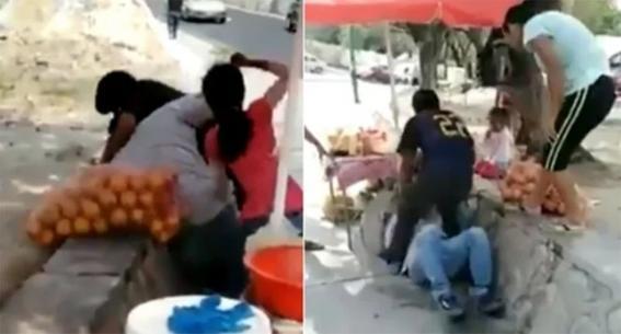 familia de hondurenos golpea a comerciantes en chiapas