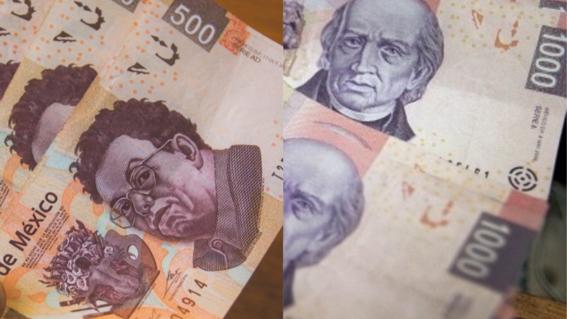 billetes de 500 y de mil