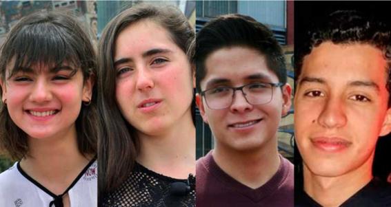 los 4 estudiantes con mejor porcentaje para entrar a la unam
