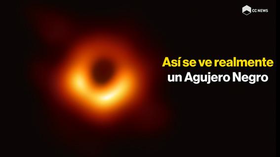 primera fotografia historica de un agujero negro