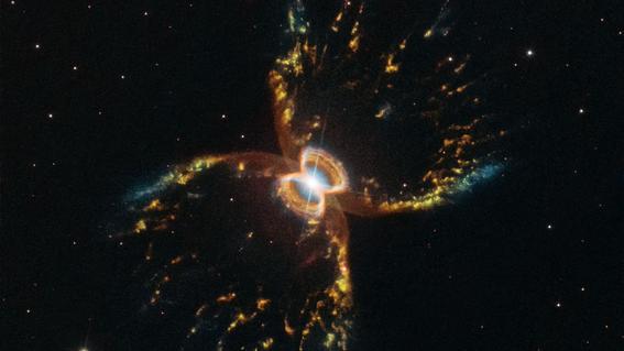 fotografia de nebulosa cangrejo nasa