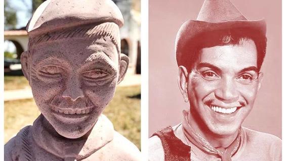 busto de cantinflas de amado montalvo
