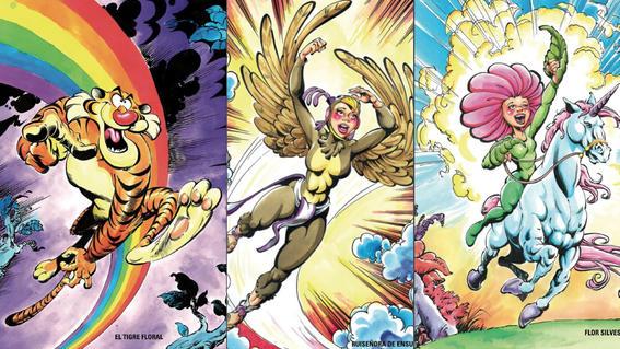 personajes de las historietas de  brigada callejera