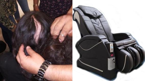 sillon de masajes deja sin cabello