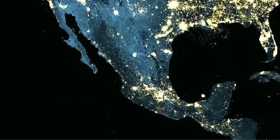 mexico desde el espacio