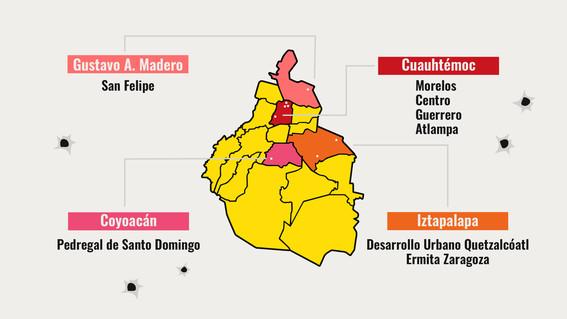 mapa de violencia en la cdmx