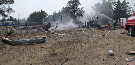 reportan explosion en taller de pirotecnia en tultepec