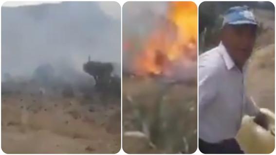 queman zona boscosa video