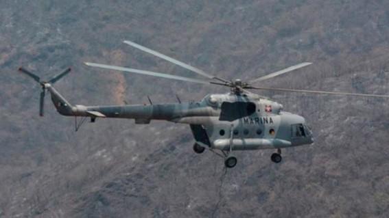 se desploma helicoptero de la marina slp