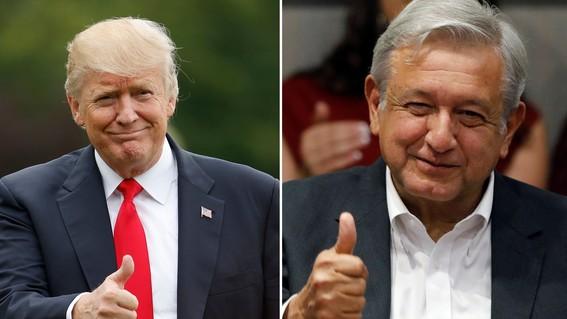 trump y amlo y aranceles de trump vs mexico