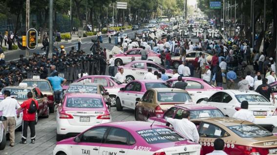 estos son los bloqueos de taxistas en cdmx y edomex