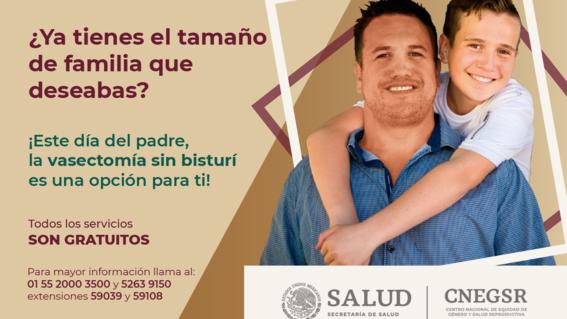celebra el dia del padre con vasectomia mexico